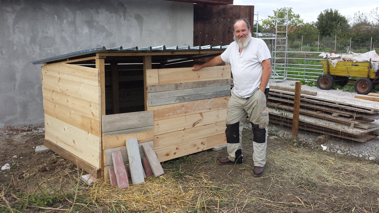 Our first pig house